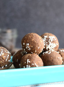 Vegan Coconut Coffee Protein Balls