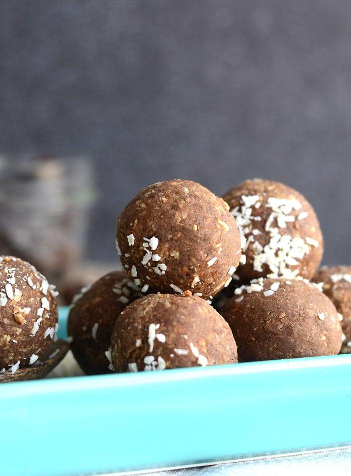 Vegan Coconut Coffee Protein Balls