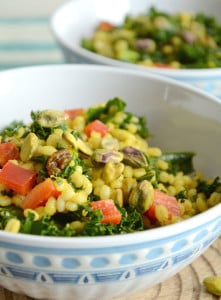 Barley and Kale Moroccan Salad with Pistachios