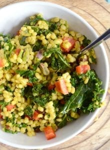 Barley and Kale Moroccan Salad with Pistachios - Vegan, Gluten-Free