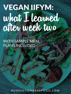 Vegan IIFYM: Tips and Meal Plans from Week Two