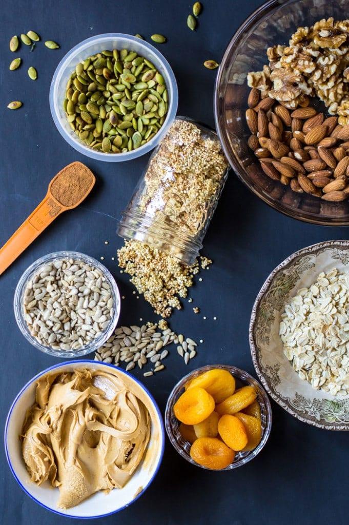 No-Bake Trail Mix Vegan Granola Bars