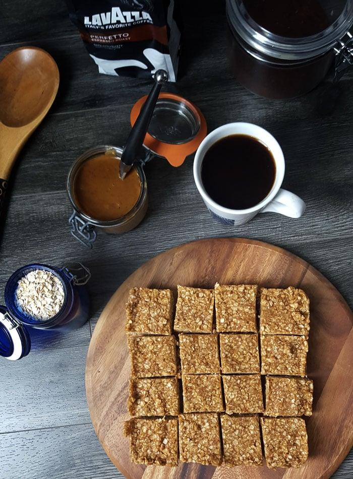 Vegan Cafe Almond Butter Oat Bars