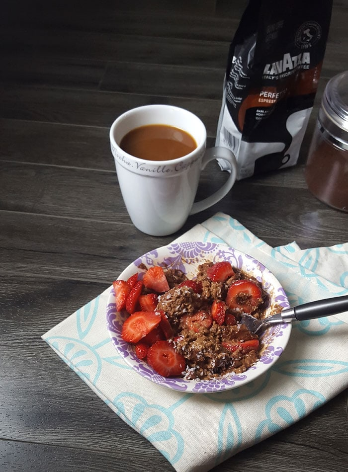 Mocha Protein Oats with Lavazza Coffee