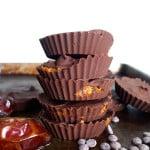 2-Ingredient Chocolate Caramel Cups - Vegan