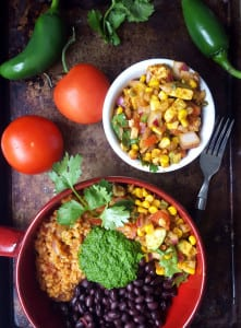 Vegan Burrito Bowls with Chimmichurri Sauce