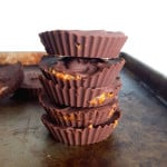 2-Ingredient Chocolate Caramel Cups - Vegan