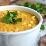 Slow Cooker Sweet Potato Corn Chowder - Vegan, Healthy, Oil-Free