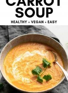 Vegan coconut ginger carrot soup.