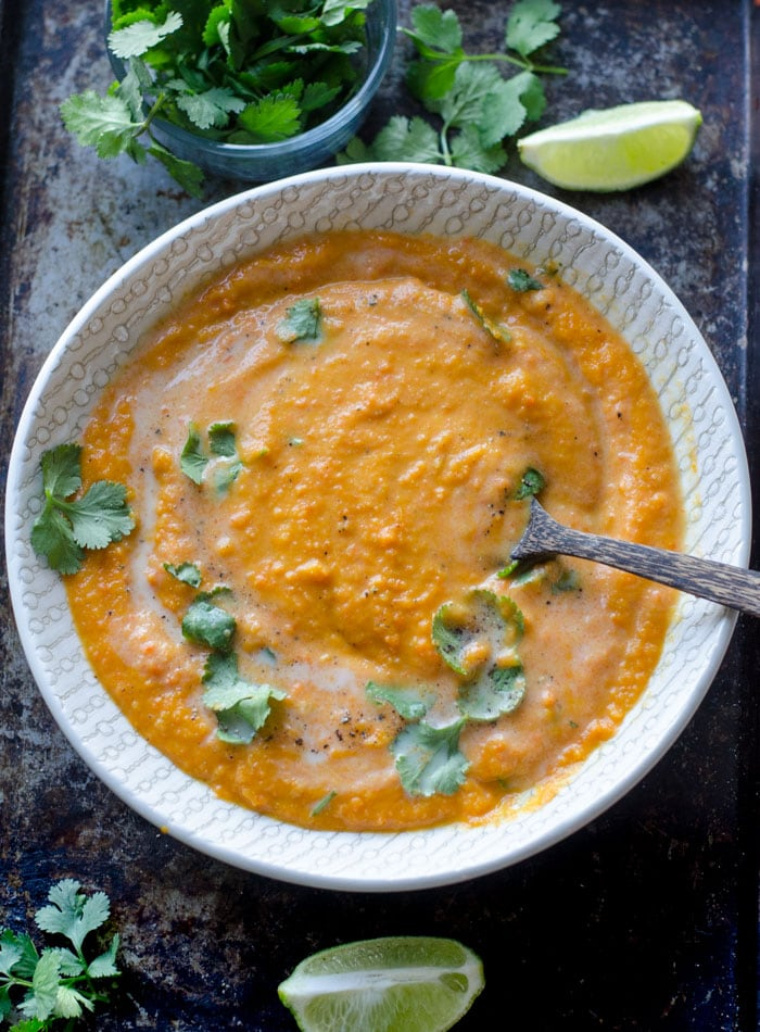 Vegan Creamy Coconut Ginger Carrot Soup