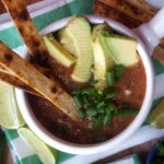 The Best Vegan Tortilla Soup - Ready in 20 minutes in one pot!