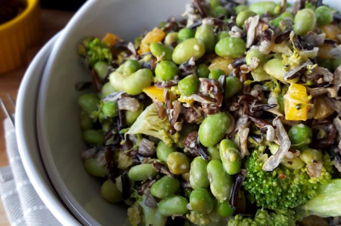 Wild Rice and Broccoli Salad with Edamame