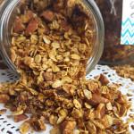 Mason Jar Gift Ideas: Vegan Pumpkin Spice Latte Granola