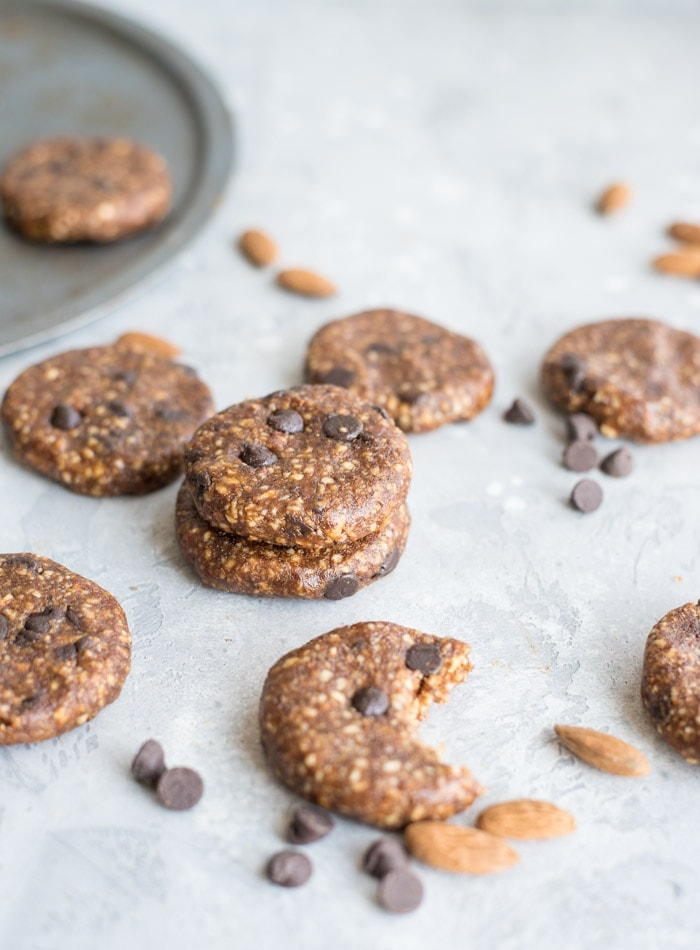 No-Bake Chocolate Chip Cookies - Running on Real Food