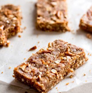 Sweet and Salty No-Bake Vegan Pretzel Peanut Butter Bars Recipe