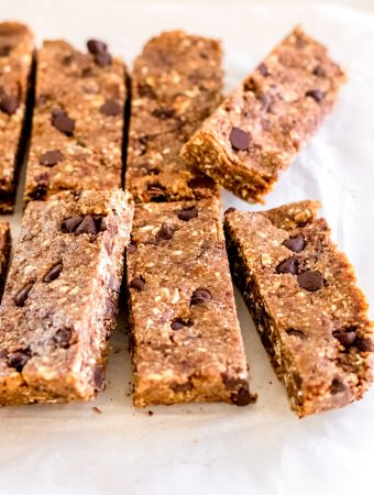 Nut-Free No-Bake Granola Bars with Tahini and Chocolate Chips