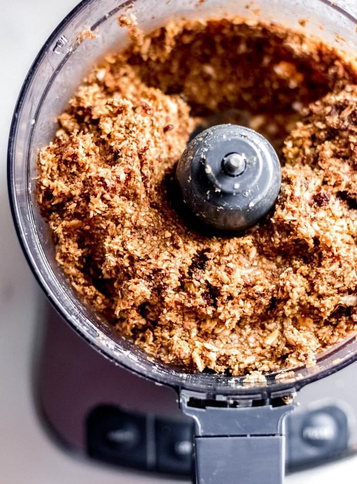 Making the Dough for No-Bake Granola Bars in your Food Processor - Running on Real Food