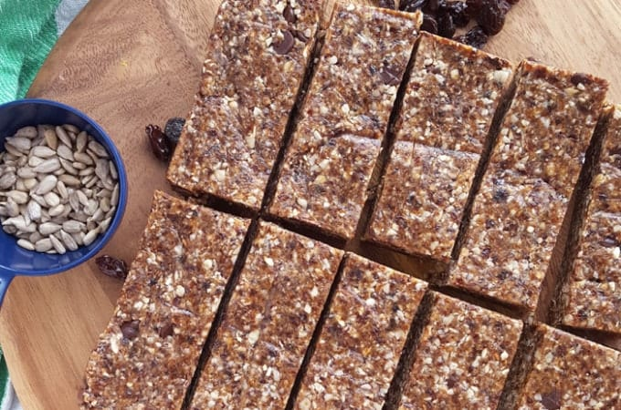 Chocolate Chip No-Bake Granola Bars