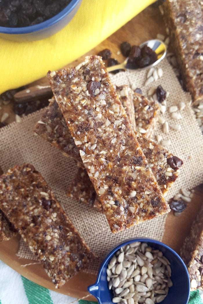 Chocolate Chip No-Bake Granola Bars