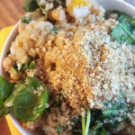 Butternut Squash, Baby Spinach and Quinoa Salad with Vegan Parmesan