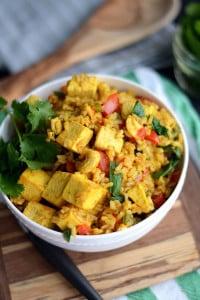 Vegan Tofu and Cashew Fried Rice