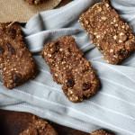 Baked Cinnamon Raisin Protein Oat Bars - Vegan + Gluten-Free