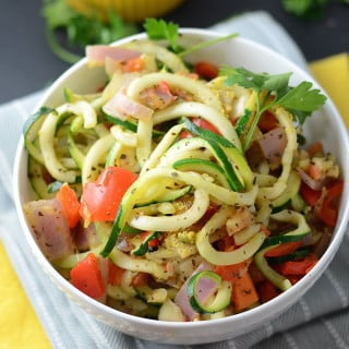 Easy and Quick Tomato Basil Zoodles - Vegan, Gluten-Free, Healthy