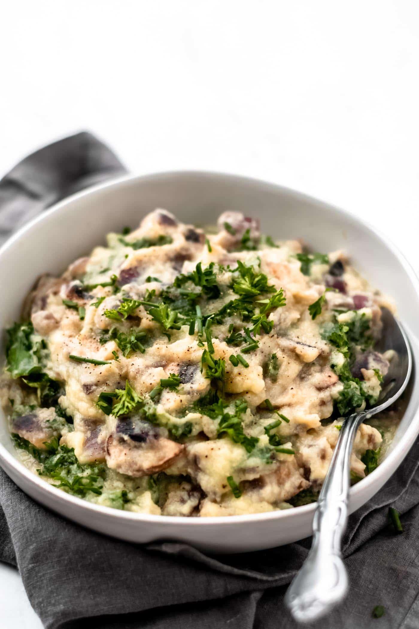 Vegan Mashed Cauliflower