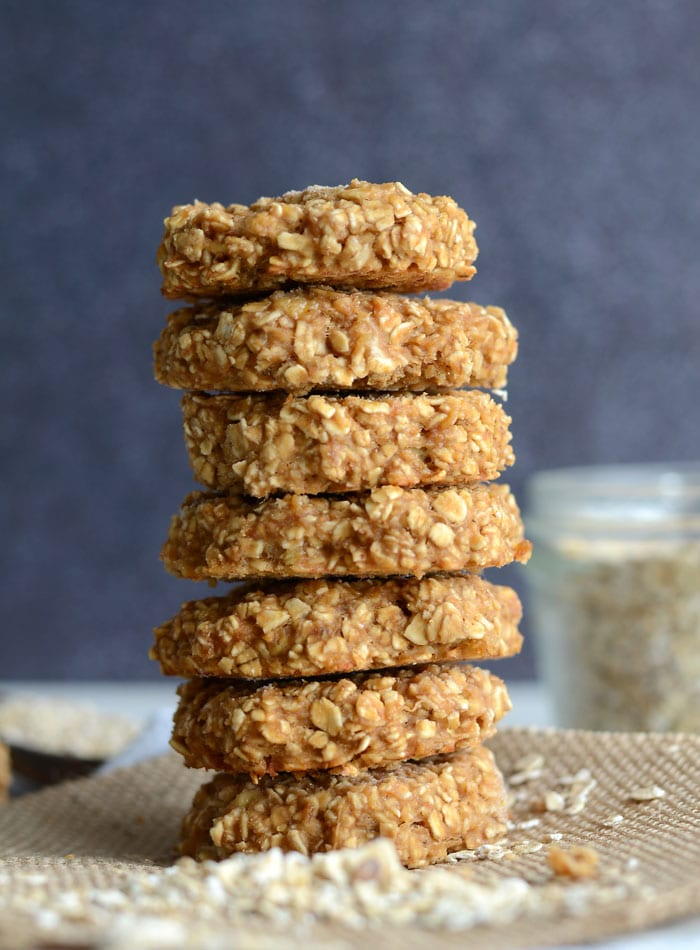 Low Fat Peanut Butter Oatmeal Cookies