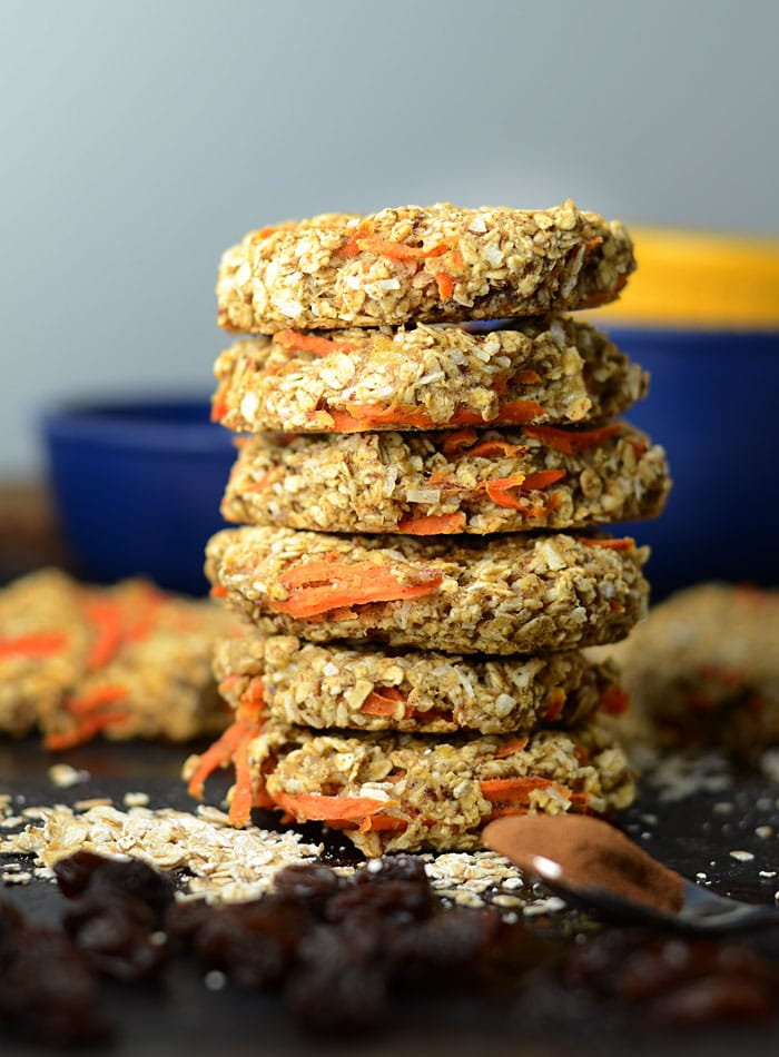 Carrot Oatmeal Coconut Cookies