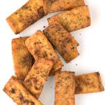 Crispy Baked Garlic Black Pepper Tofu