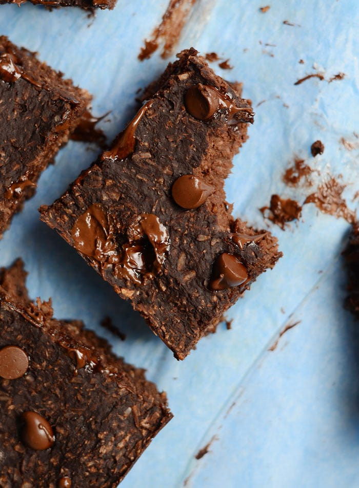 Healthy Vegan Chocolate Coconut Brownies - Oil-free, only 6 simple ingredients, gluten-free, grain-free, make in the blender!