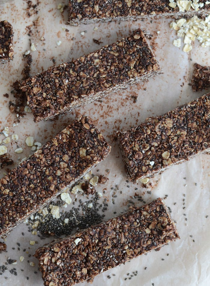 Chocolate Coconut Chia Seed Bars No Bake Vegan Gluten Free