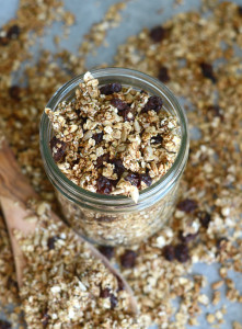 Cinnamon Raisin Healthy Homemade Granola