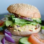 Lemon Tahini Chickpea Veggie Burgers