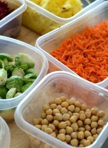 Vegan Food Prep Tips for Healthy Meals All Week - Save time, save money, reduce stress, eat well!