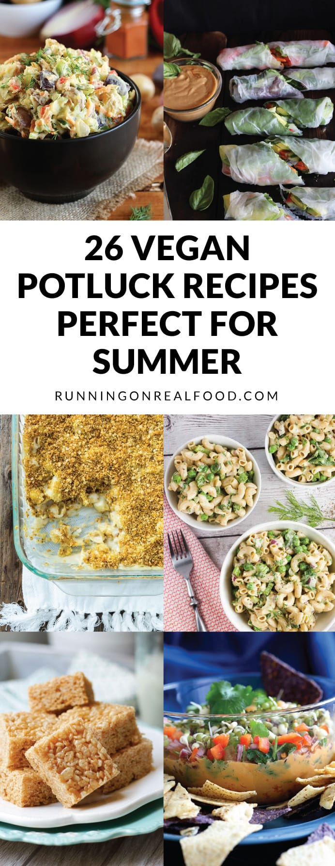 These 26 vegan potluck recipes are perfect for your next summer bbq, beach day or picnic! Delicious, easy to make, healthy and sure to please a crowd. Mains, dips, sandwiches and wraps, snacks, sides, salads and desserts included.