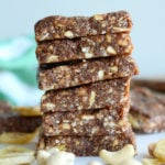 Vegan Banan Nut Bars - No-Bake, 3 Ingredients, Gluten-Free