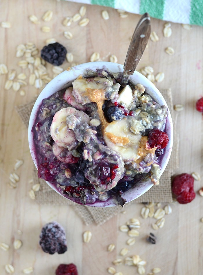 Berry Coconut Overnight Oats with Protein | Vegan and Gluten-Free