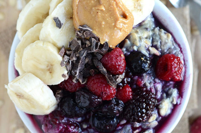 Coconut Berry Overnight Protein Oats - Vegan