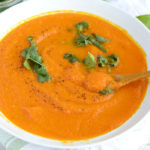 Curried Ginger Carrot Soup - Vegan, 6 Ingredients, Healthy and So Easy!