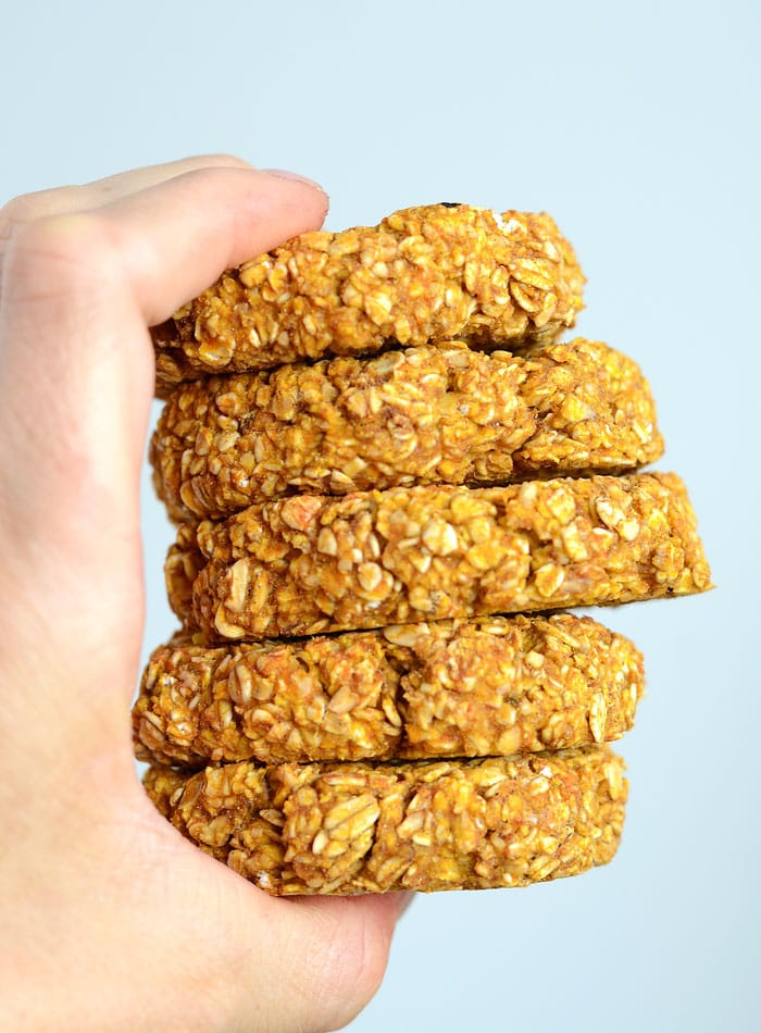 Healthy Pumpkin Oat Cookies - Vegan + Gluten-Free + 3 Ingredients