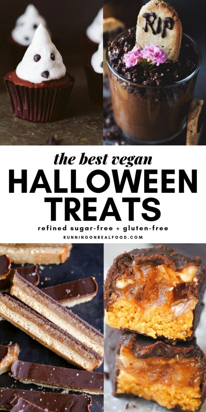 Pinterest graphic for homemade Halloween treats.