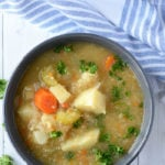Healthy Vegetable Chowder - Low Carb, Low Fat, Vegan