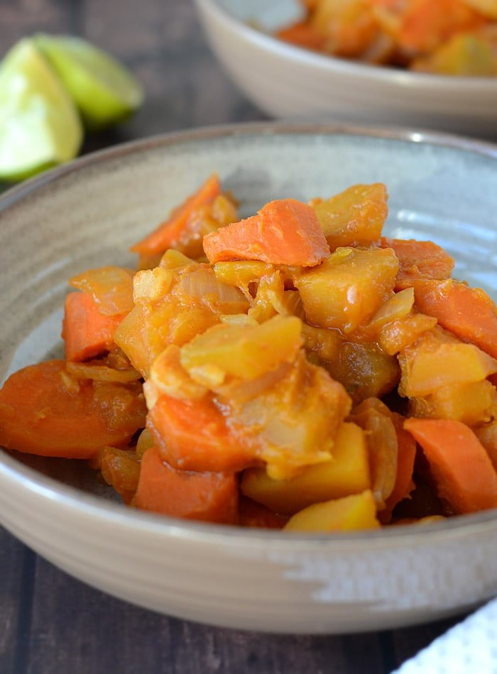 Vegan Kabocha Squash Red Curry - Low in Fat