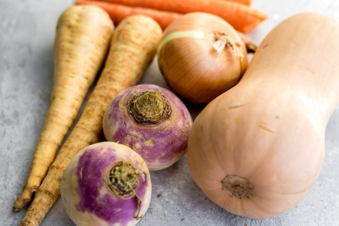 Ingredients for Vegan Vegetable Stew in the Slow Cooker