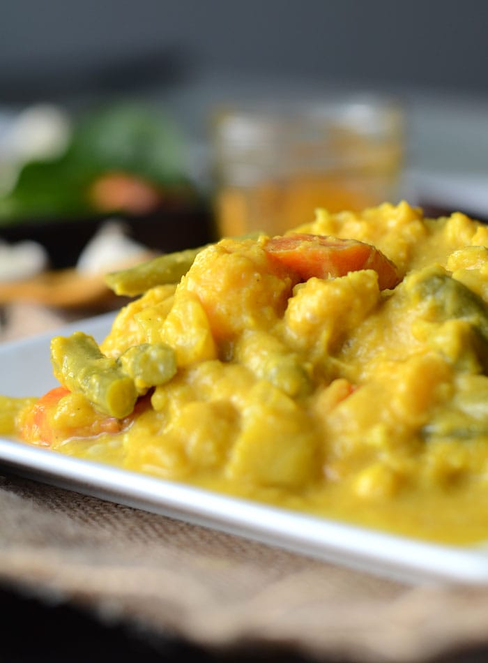 Slow Cooked Curried Butternut Squash Stew - Vegan, Healthy, Gluten-Free