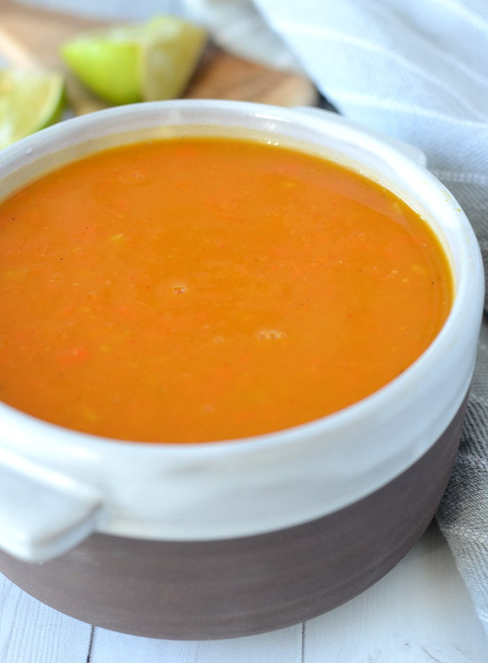 Red Curry Kabocha Squash Soup - Easy, Vegan, Low Fat