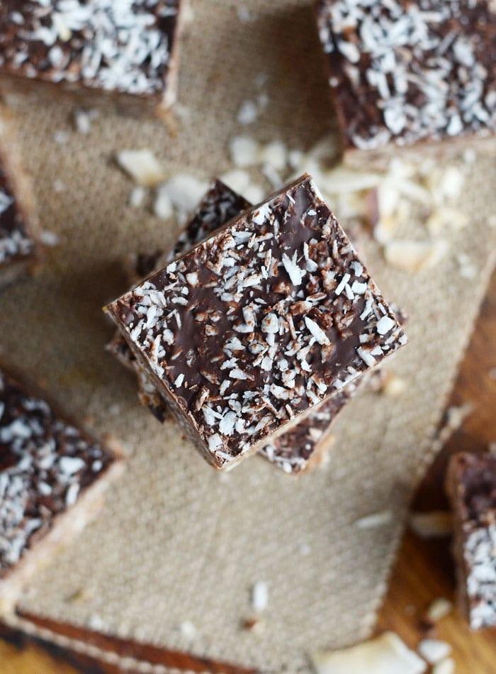 No-Bake Vegan Almond Joy Bars
