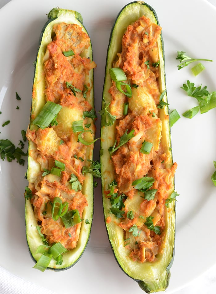 Healthy Vegan Twice Baked Stuffed Zucchini Ready In 30